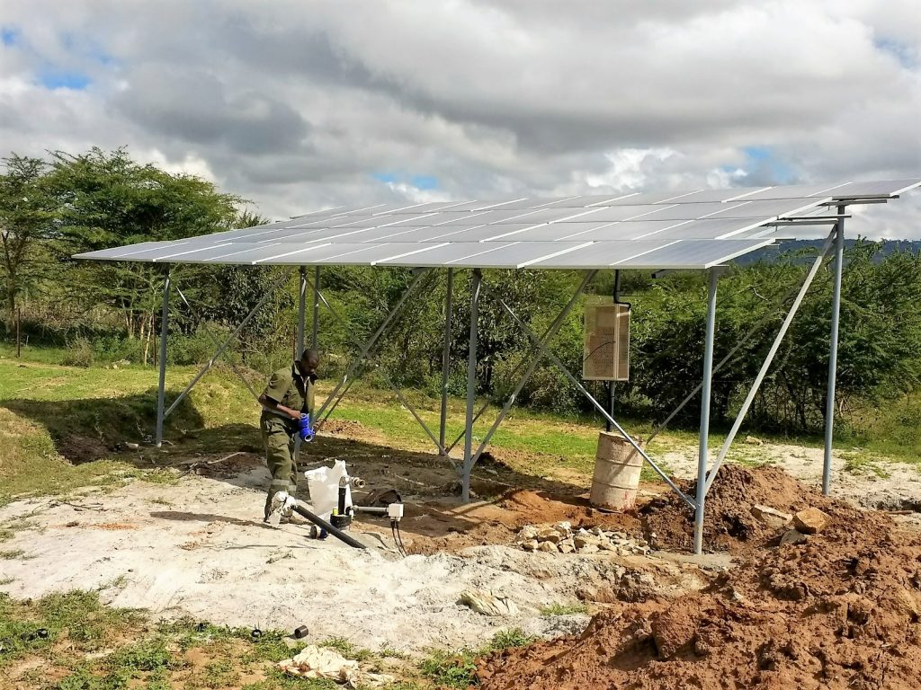 New solar added to borehole system!